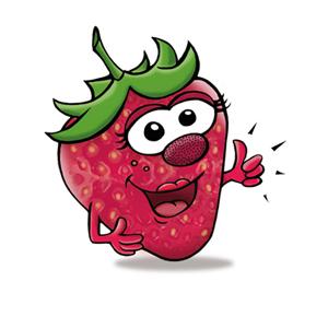 Xylitol Chewing Gums für Kinder Geschmack Erdbeere